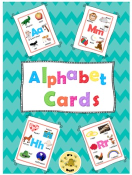 Alphabet Word Wall Cards (Pictures and Words)