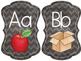 Alphabet & Word Wall: Chalkboard/Chevron