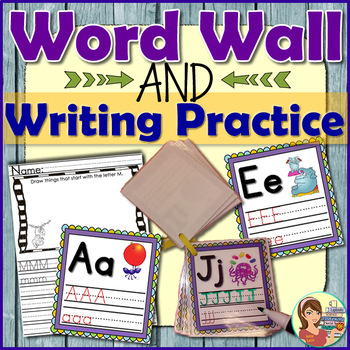 Alphabet Word Wall, Flash Cards & Worksheets