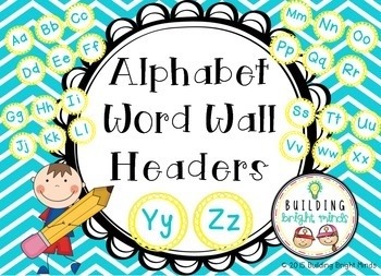 Alphabet Word Wall Headers