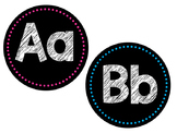 Alphabet Word Wall Headers - BLACK  and BRIGHT