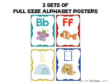 Alphabet, Word Wall Headers & Numbers Posters Set {Bright Chevron}