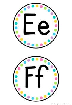 Alphabet Word Wall Headers {Rainbow Classroom Decor}