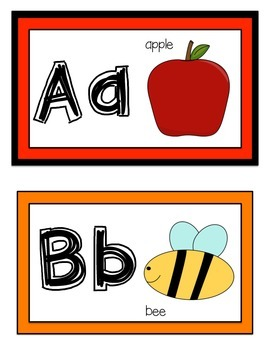 Alphabet Word Wall Headers (Rainbow Edition)
