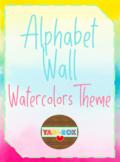Alphabet Word Wall Kit – Watercolor