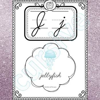 Alphabet Word Wall: Letter J (Cursive Writing Cards)