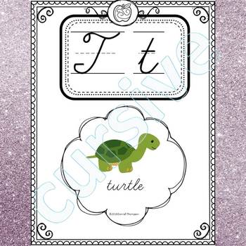 Alphabet Word Wall: Letter T (Cursive Writing Cards)