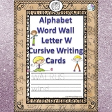 Alphabet Word Wall: Letter W (Cursive Writing Cards)