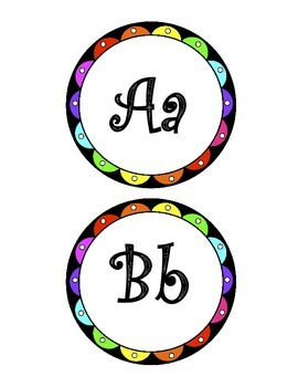 Alphabet Letters Curly Rainbow
