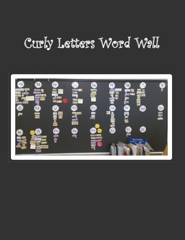 Alphabet Letters Curly Rainbow Freebie