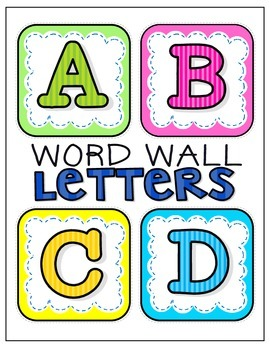 Word Wall Alphabet Letters