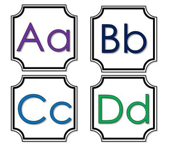 Alphabet Word Wall Letters (5 options)