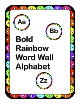 Free! Alphabet Word Wall Letters Bold