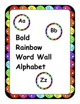 Alphabet Word Wall Letters Comic Sans