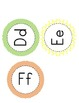 Alphabet Word Wall Letters; chevron, dots, & stripes
