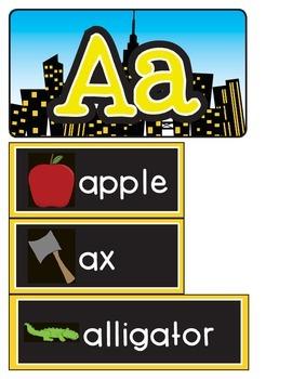 Alphabet Word Wall Toolkit {Superhero Theme}