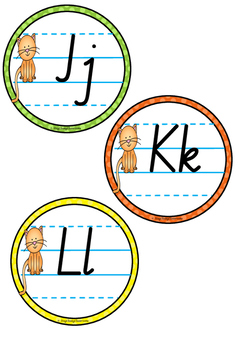 Alphabet Word Wall Toppers - NSW Pre-Cursive
