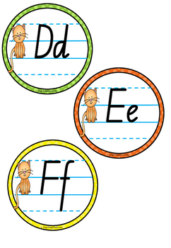 Alphabet Word Wall Toppers - New South Wales Pre-Cursive