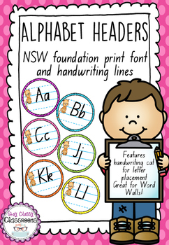 Alphabet Word Wall Toppers - NSW Print
