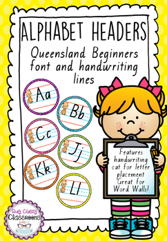 Alphabet Word Wall Toppers - Queensland Print