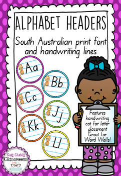 Alphabet Word Wall Toppers - South Australian Print