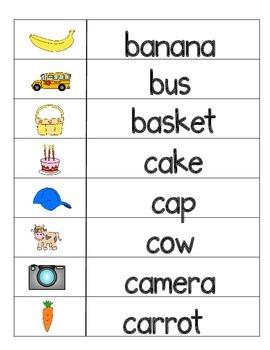 Alphabet Word Wall:  Vocabulary cards