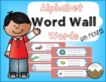 Alphabet Word Wall Words