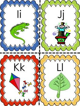 Alphabet Word Wall or Sorting Cards