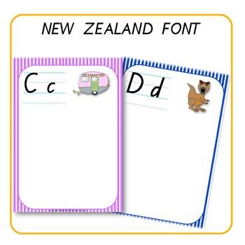 Alphabet Word Walls New Zealand Font