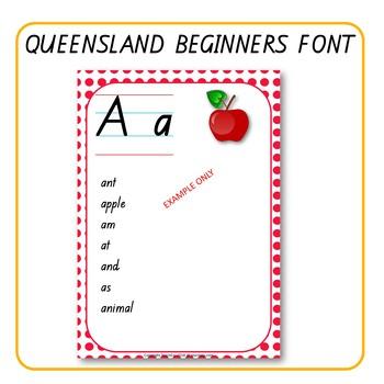 Alphabet Word Walls Queensland Font