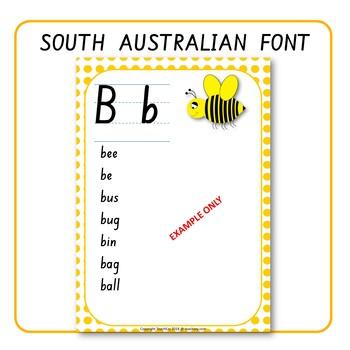 Alphabet Word Walls South Australian Font