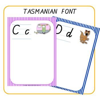 Alphabet Word Walls Tasmanian Font