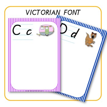 Alphabet Word Walls Victorian Font Australia