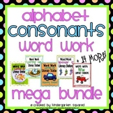 Alphabet Word Work - Consonants Mega Bundle (19 Letter Packs)