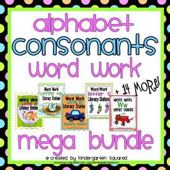 Alphabet Word Work - Consonants Mega Bundle (19 Letter Packs)