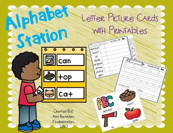Alphabet/ Word Work Literacy Station- With Alphabet Word Cards