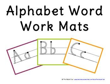 FREE Alphabet Word Work Mats