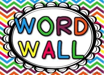 Alphabet Word Wall Headers {Rainbow}