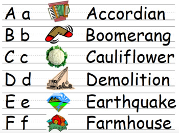 Alphabet Words A-Z Packet - 3 Levels
