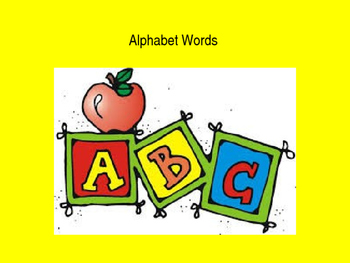 ELL Alphabet and Words PowerPoint