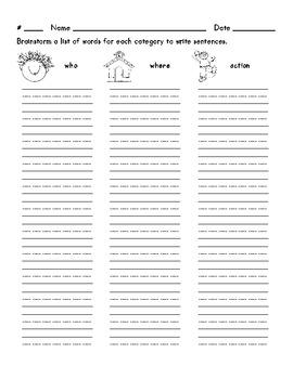 Alphabet Words Sentences