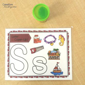 Alphabet Work Mats! Letter Cover-Up Activity for Kindergarten