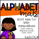 Alphabet Work Mats (Target Erasers)