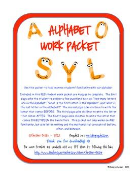 Alphabet Work Packet