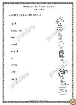 Alphabet - Fun Work Sheets for Kindergarten and 1st Grade