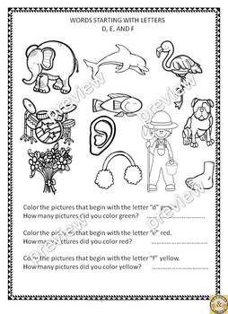 Alphabet - Fun Work Sheets for Kindergarten and 1st Grade