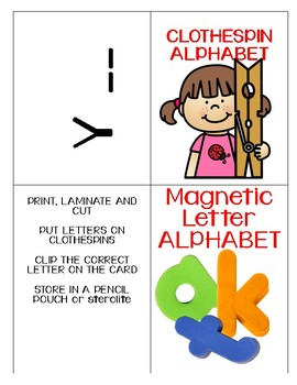 Alphabet Work Stations