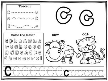 Alphabet Workbook A-Z Animal Theme