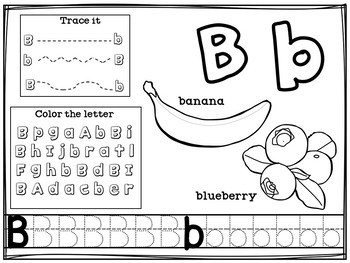 Alphabet Workbook A-Z Food Theme