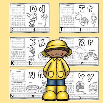 Alphabet Workbook A-Z Spring Theme